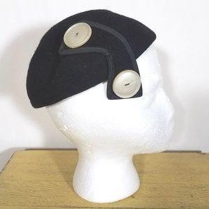 Vtg 1940's Felted calot hat